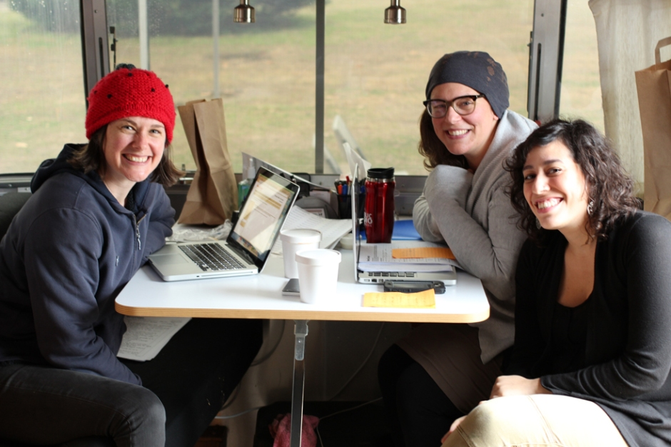 In teams of three, the StoryCorps Mobile TK travels across the country, facilitating interviews. Photo: Courtesy of Emily Janssen