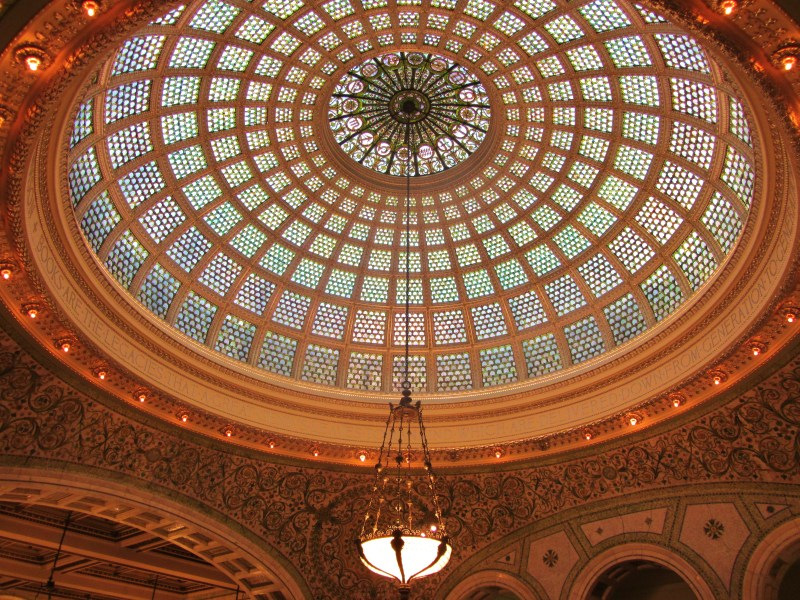 Dazzling Dome inside The Chicago Cultural Center