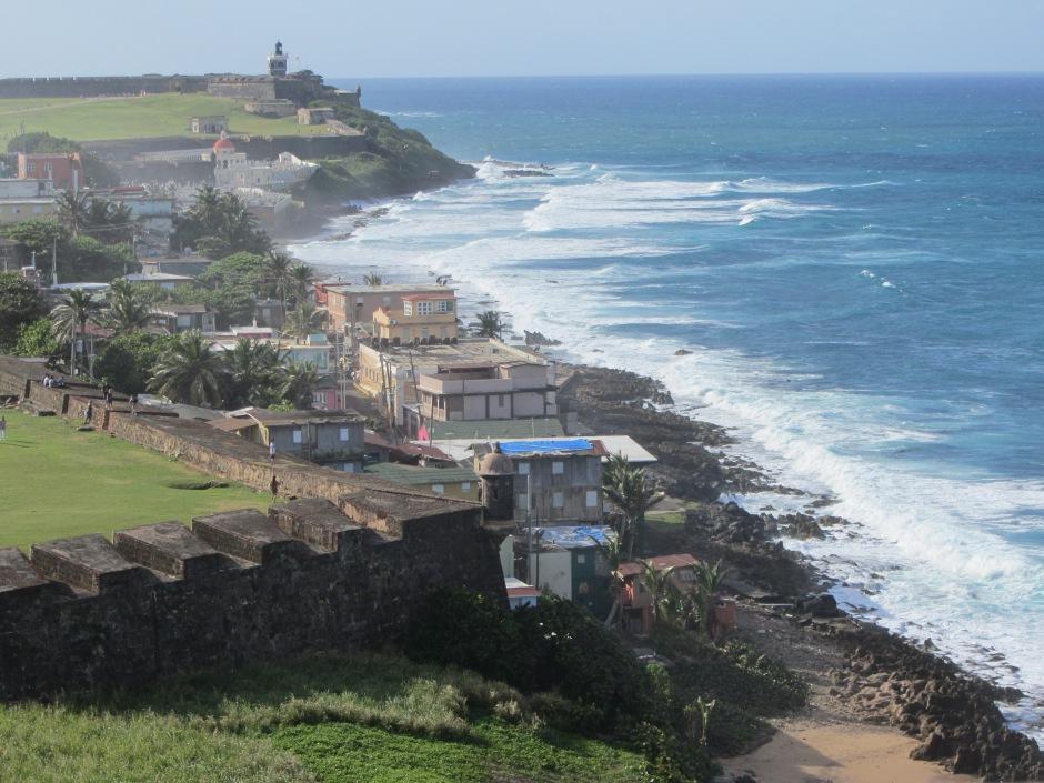 A View From The Top: Coastal Old San Juan from atop Castillo San Cristóbal