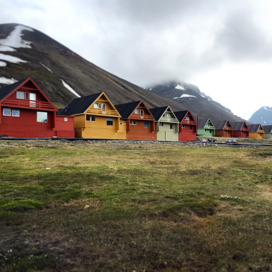 Colorful homes in Svalbard